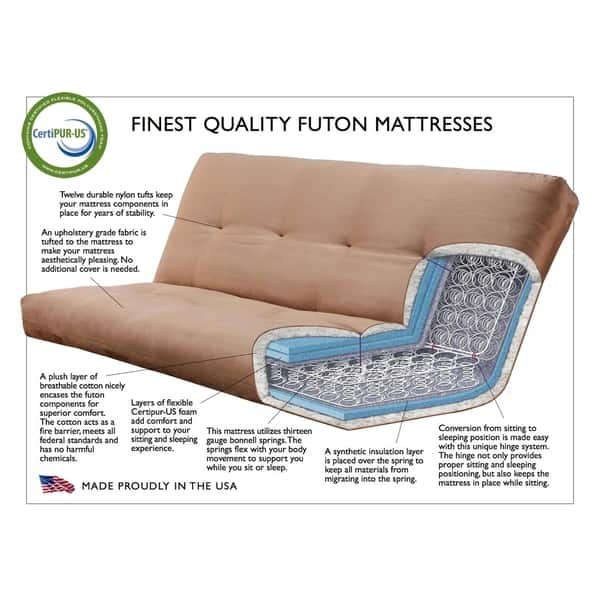 Queen Size Futon With Ernut Finish