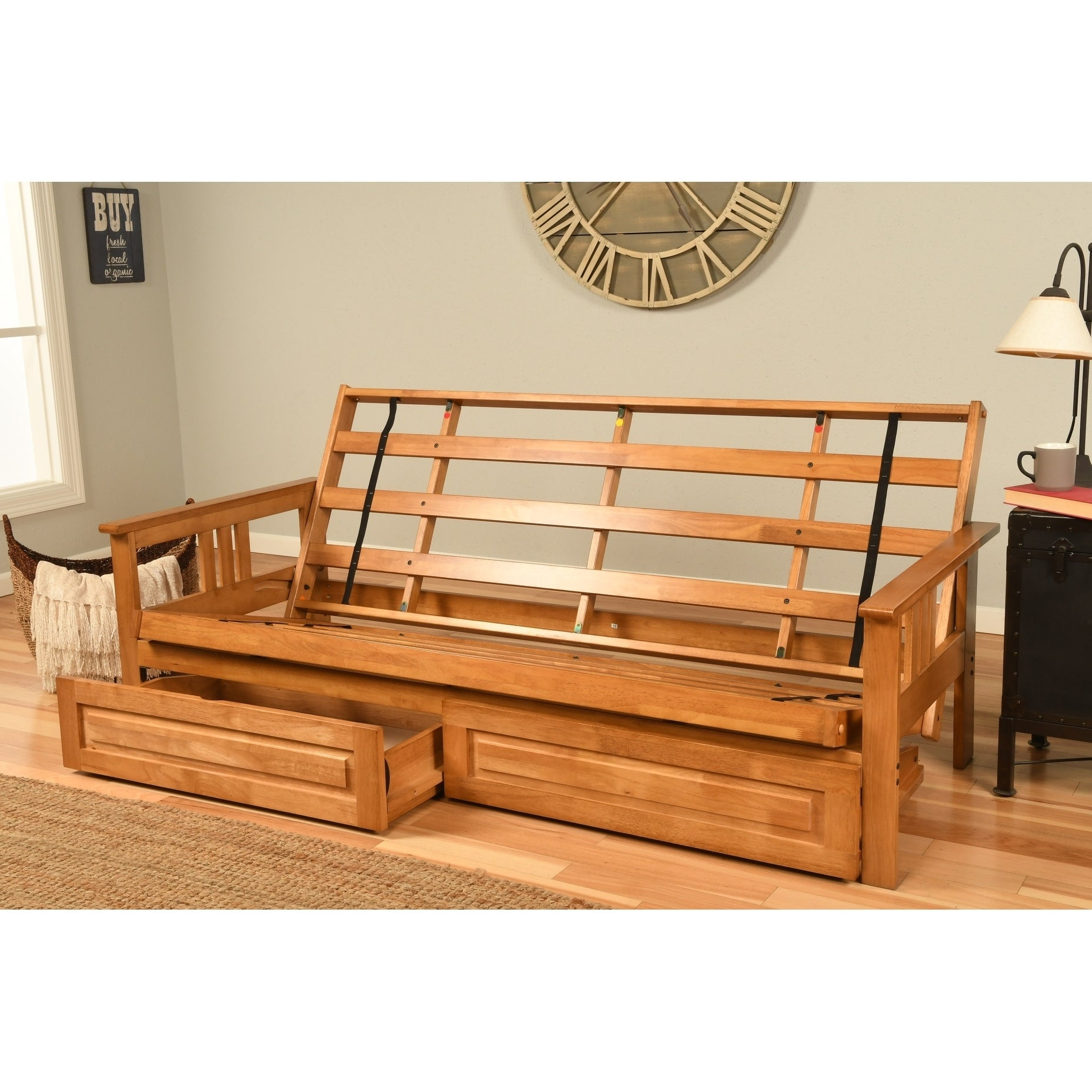 Shop Somette Queen Size Futon With Storage Drawers Overstock 26037551