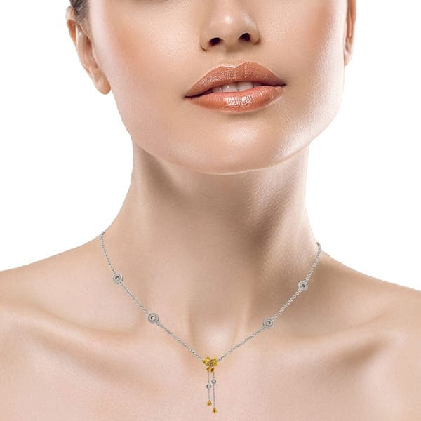 Shop 5 4 Carat Citrine Beautiful Sterling Silver Necklace By