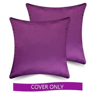 Ample Decor High Quality Polyester Solid Pillow Cover, Set of 2