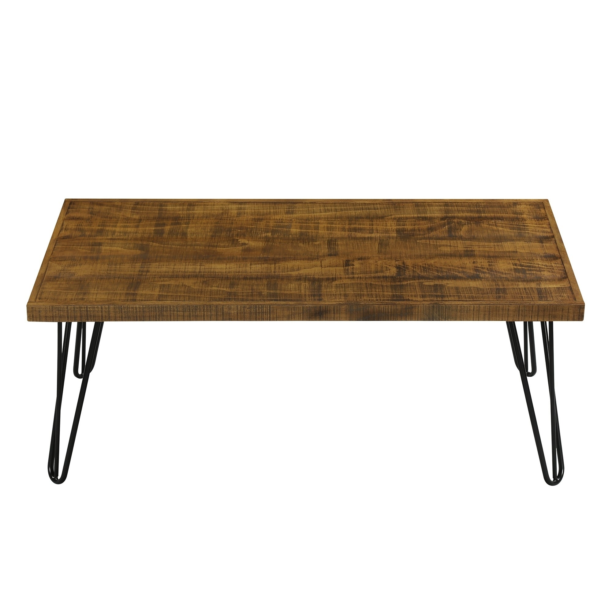Carbon Loft Pniowsky Wood And Metal Coffee Table Rustic Brown