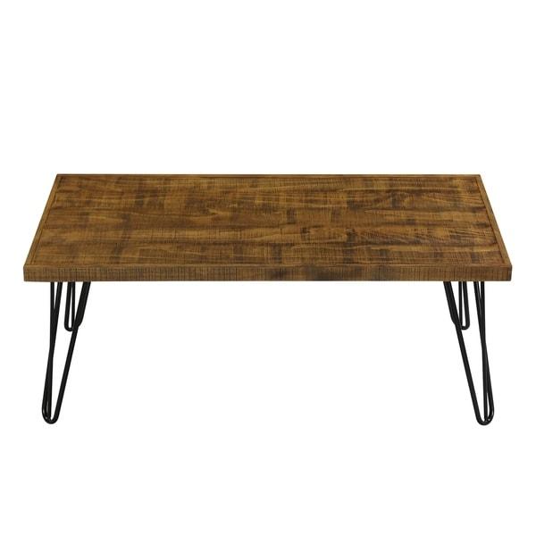 Rustic Brown Wood Coffee Table: Shop Sleeplanner Wood And Metal Coffee Table Rustic Brown