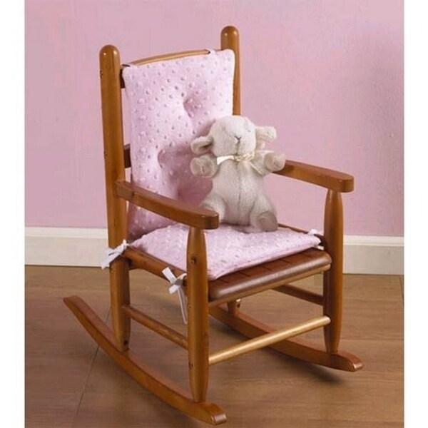 "Heavenly Soft Child's Rocking Chair Cushion (Cushion only), Minky Pink - seat: 12""l x 10""w, back 11""l x 12""w"