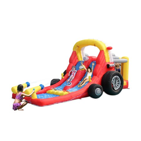 Formula One Bounce House with Double Wet & Dry Slides