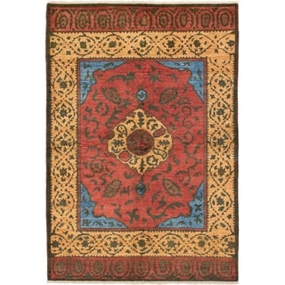 eCarpetGallery  Hand-knotted Shalimar Red Wool Rug - 6'5 x 9'5