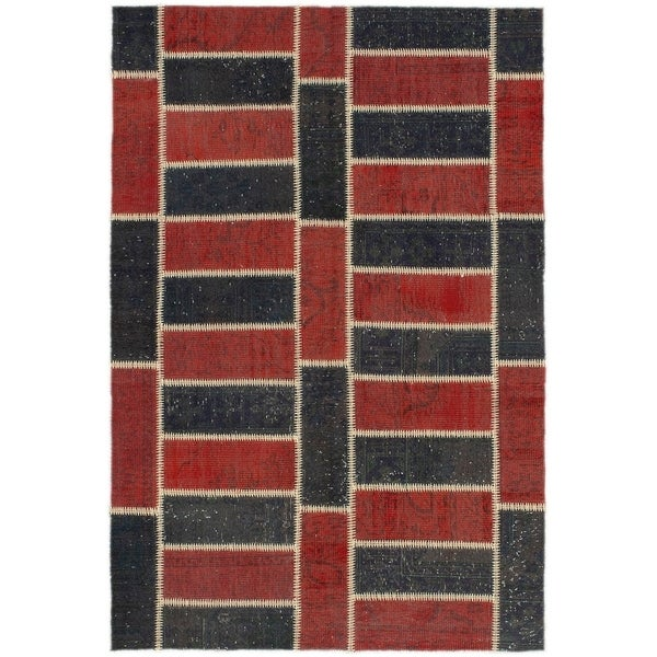eCarpetGallery Hand-knotted Color Transition Copper, Wool Rug - 5'1 x 7'7