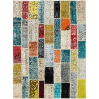 eCarpetGallery  Hand-knotted Color Transition Patch , Wool Rug - 4'10 x 6'7