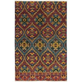 eCarpetGallery  Hand-knotted Shalimar Sky Blue, Tan Wool Rug - 6'0 x 9'0