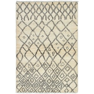 eCarpetGallery  Hand-knotted Tangier Cream Wool Rug - 4'1 x 6'0