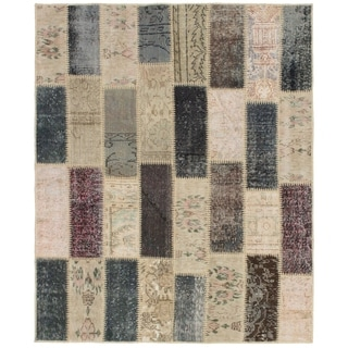 eCarpetGallery  Hand-knotted Color Transition  Dark Grey, Wool Rug - 5'0 x 6'2