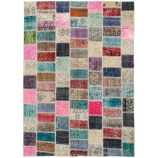 eCarpetGallery  Hand-knotted Color Transition Patch Grey, Wool Rug - 5'0 x 6'11