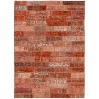 eCarpetGallery  Hand-knotted Color Transition Patch Copper Wool Rug - 5'7 x 8'10