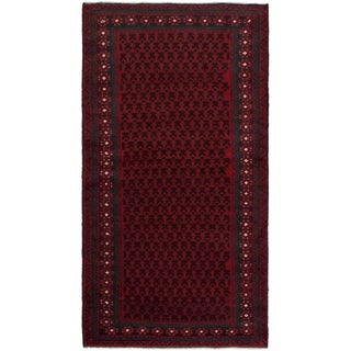 eCarpetGallery  Hand-knotted Teimani Red Wool Rug - 3'4 x 6'5