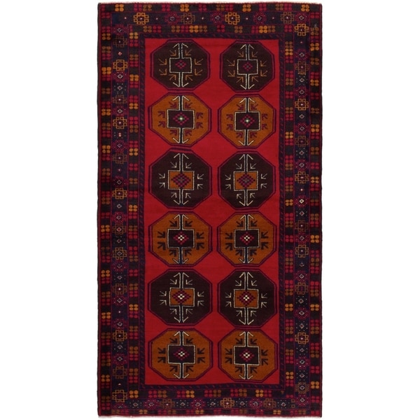 eCarpetGallery Hand-knotted Teimani Red Wool Rug - 3'5 x 6'9