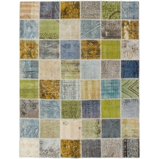 eCarpetGallery  Hand-knotted Color Transition Patch Brown, Wool Rug - 5'2 x 6'8
