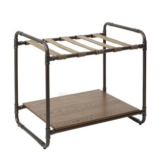 Anderson Convertible Industrial Luggage Rack Table with Pipe Fittings