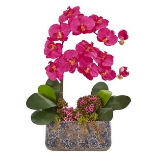 Nearly Natural Phalaenopsis Orchid Artificial Arrangement