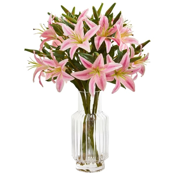 Nearly Natural Lily Artificial Arrangement