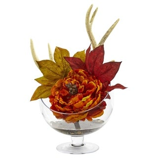 Nearly Natural Peony Artificial Arrangement