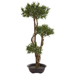Nearly Natural 46-inch Bonsai-style Podocarpus Artificial Tree