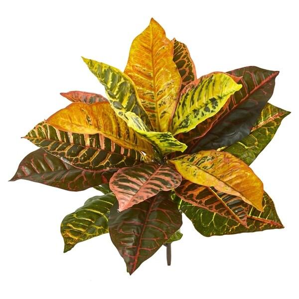 "21"" Garden Croton Artificial Plant (Real Touch) (Set of 4)"