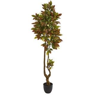 Nearly Natural Croton 6-foot Artificial Tree
