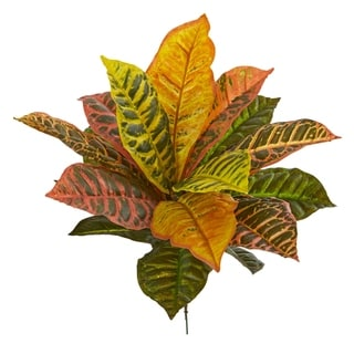 Nearly Natural 17-inch Garden Croton Real Touch Artificial Plant (Set of 6)