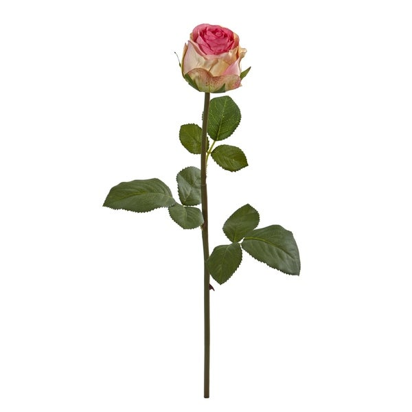 Nearly Natural 18-inch Rose Spray Artificial Flower (Set of 12)