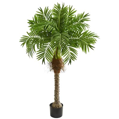 Nearly Natural Robellini Palm 58-inch Artificial Tree