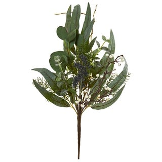 Nearly Natural 18-inch Eucalyptus Pick Artificial Plant (Set of 6)