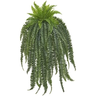Nearly Natural 58-inch Boston Fern Artificial Hanging Plant