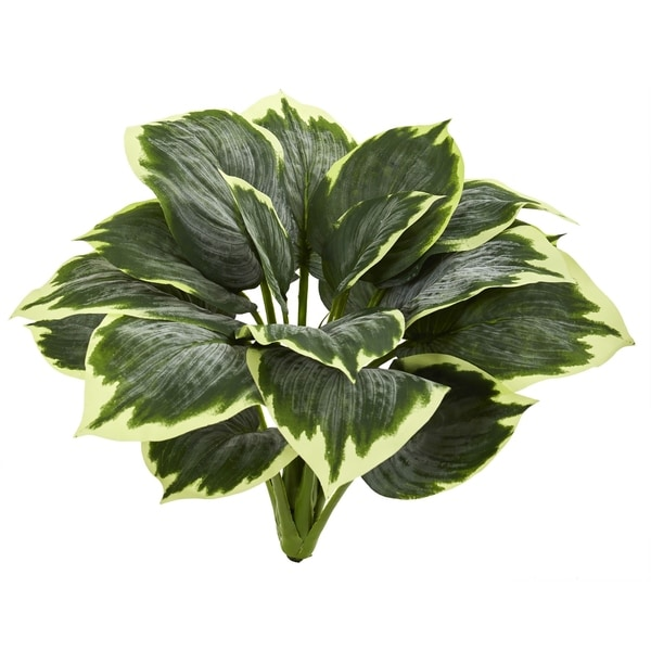 Nearly Natural Variegated Hosta Artificial Plant (Set of 6)