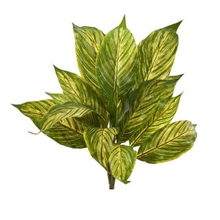 Nearly Natural Musa Leaf Artificial Plant (Set of 12)