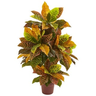 Nearly Natural 39-inch Croton Artificial Plant