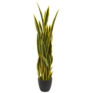 Nearly Natural Sansevieria 4-feet Tall Artificial Plant