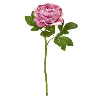 Nearly Natural 19-inch Peony Artificial Flower (Set of 6)