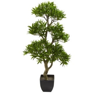 Nearly Natural 37-inch Bonsai-style Podocarpus Artificial Tree