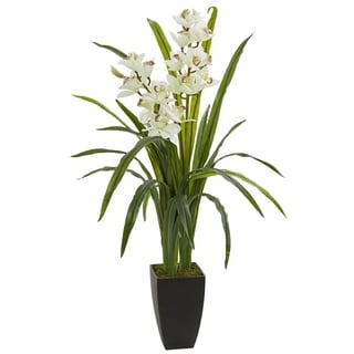 Nearly Natural 39-inch Cymbidium Orchid Artificial Plant
