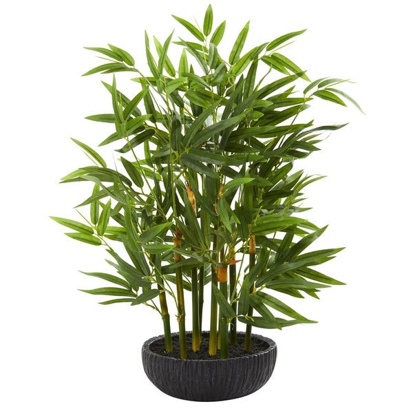 Nearly Natural 20-inch Bamboo Artificial Plant