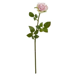 Nearly Natural Green/Pink Rose Spray Artificial Flowers (Set of 12)