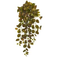 Nearly Natural 36-inch Fittonia Hanging Bush Artificial Plant (Set of 2)
