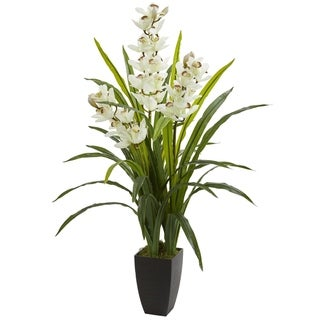 Nearly Natural 45-inch Cymbidium Orchid Artificial Plant