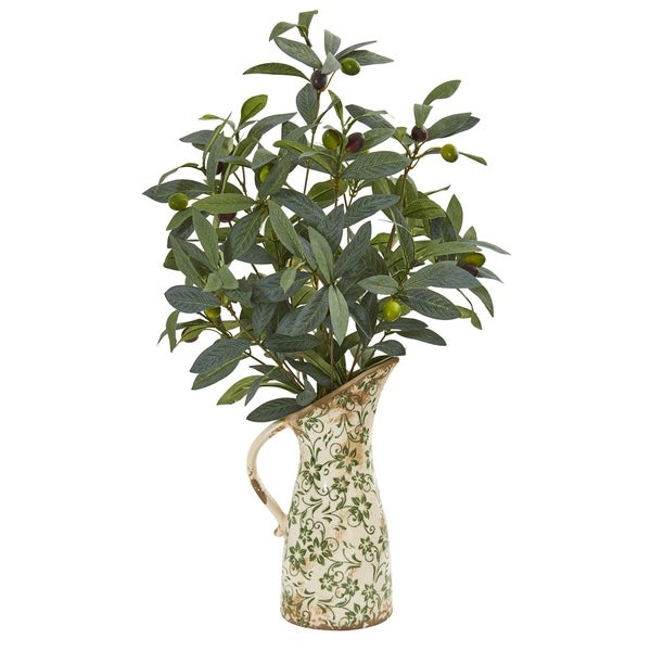 Nearly Natural 23-inch Olive Artificial Plant