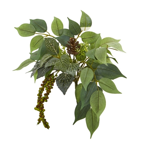 """13"""" Mixed Royal Ficus and Fittonia Pick Artificial Plant (Set of 12)"""