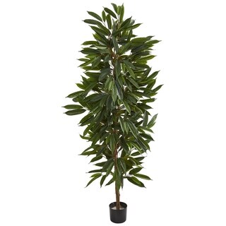 Nearly Natural 6.5-foot Mango Artificial Tree