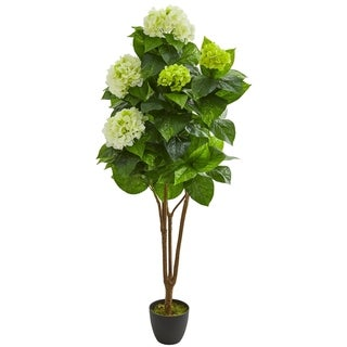 Nearly Natural 5-foot Hydrangea Artificial Plant