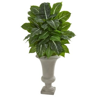 Nearly Natural Evergreen 35-inch Real Touch Artificial Plant in Sandstone Urn