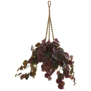 Nearly Natural 34-inch Peperomia Artificial Plant Hanging Basket