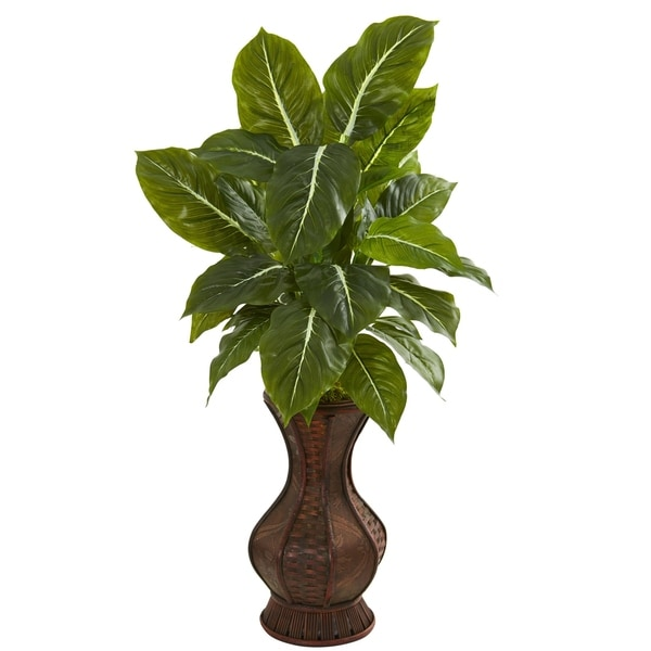 Nearly Natural 31-inch Real Touch Evergreen Artificial Plant in Decorative Planter