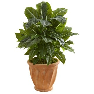 Nearly Natural 30-inch Real Touch Artificial Evergreen Plant in Terra Cotta Planter